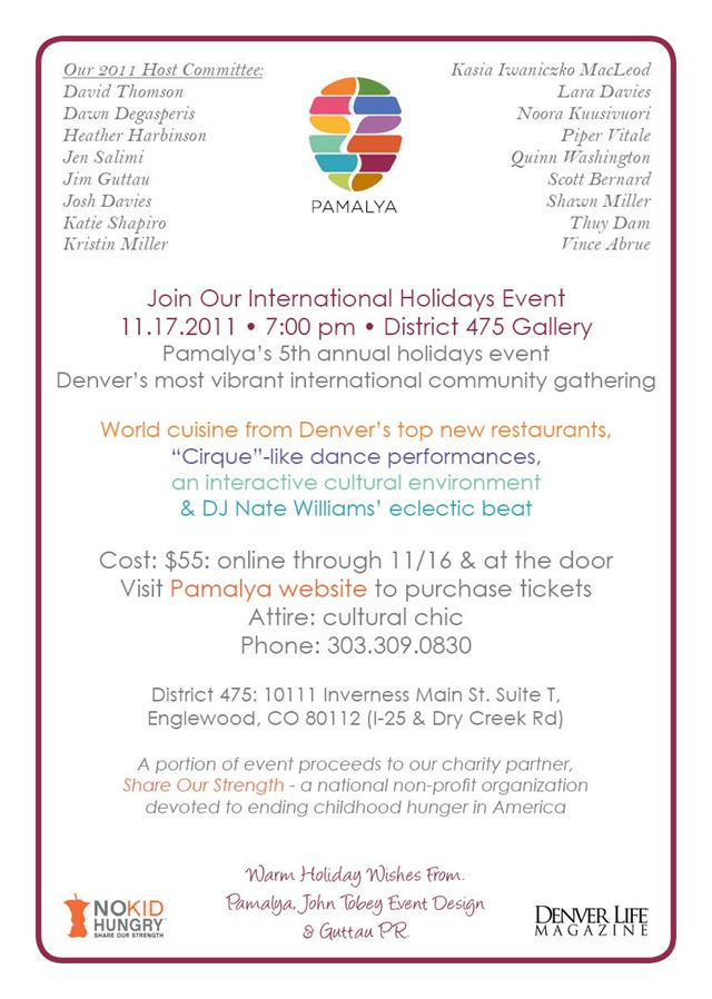 Pamalya International Holiday - invite